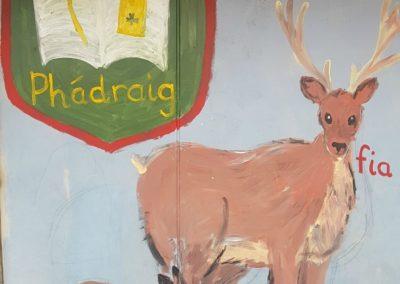 Gaelscoil Phadraig deer painting