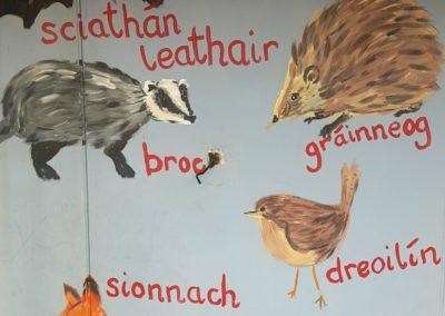 Gaelscoil Phadraig painting